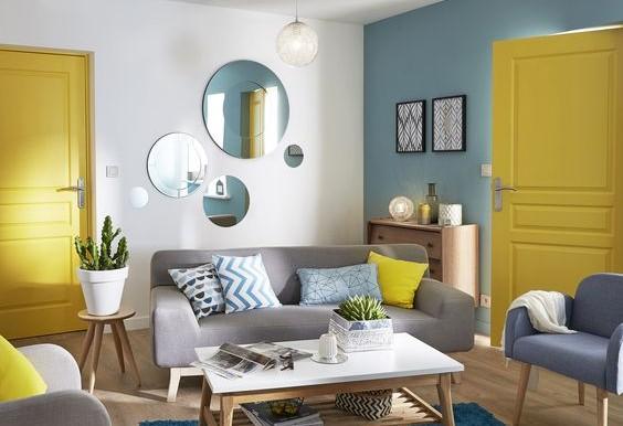 salon vintage jaune