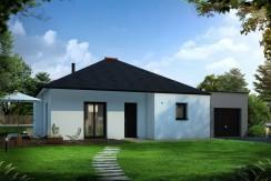 Mod le maison plain pied axce 39 s habitat constructeur for Modele maison en l plain pied