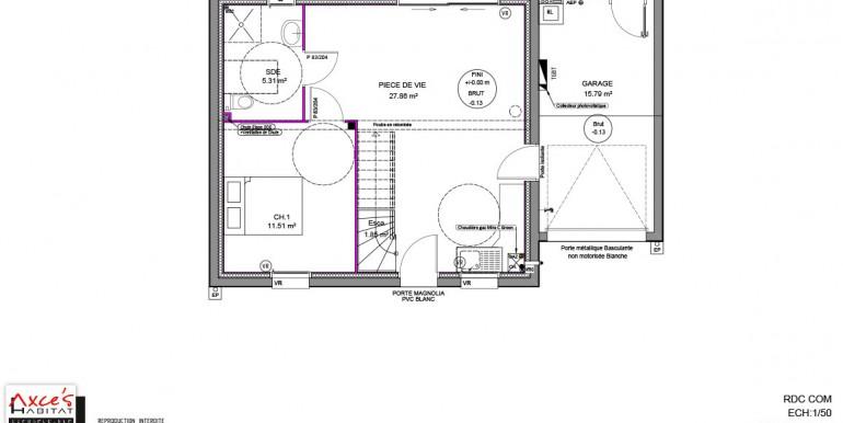 axce 39 s 1 pmr axce 39 s habitat constructeur de maison en. Black Bedroom Furniture Sets. Home Design Ideas